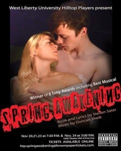 "Hilltop Players Will Present the Musical ""Spring Awakening"" at Kelly Theatre"